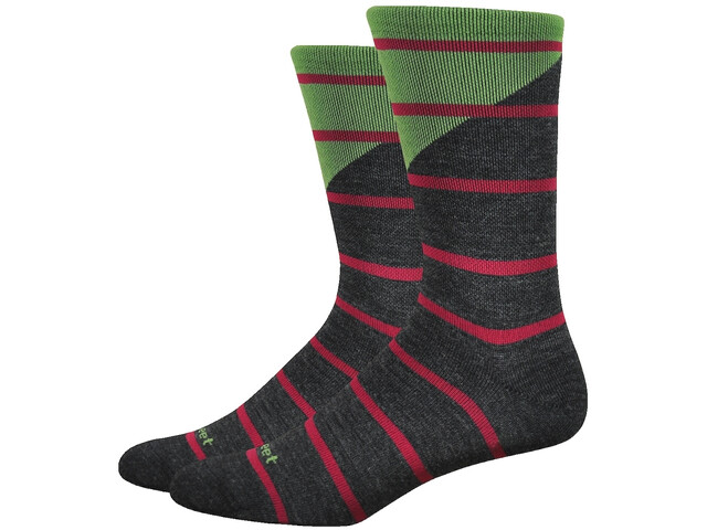 "DeFeet Mondo Wool 7"" sukat, tieon (charcoal/green)"